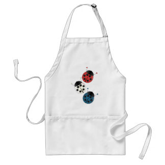 Red White and Blue Ladybugs Adult Apron