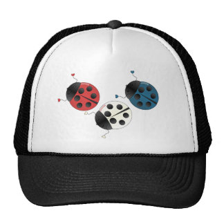 Red White and Blue Ladybugs Trucker Hat