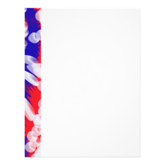 red white and blue letterhead