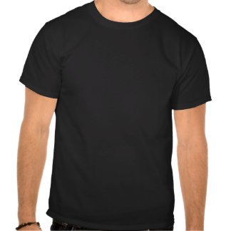 Red White and Blue Logo on Black T Shirt