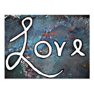 """Red White and Blue """"Love"""" Postcard"""