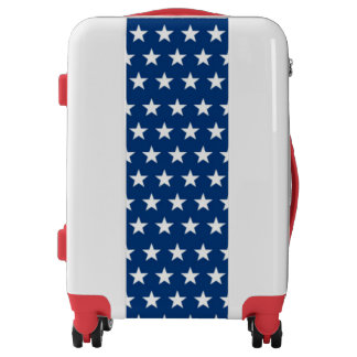 Red White and Blue Luggage