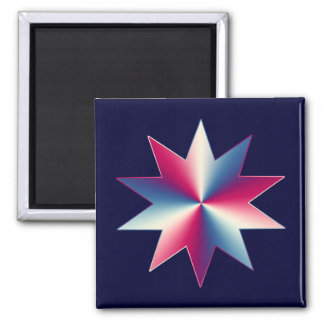 Red, White and Blue 2 Inch Square Magnet