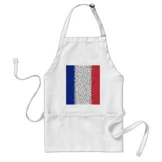 Red, White and Blue Mosaic Adult Apron