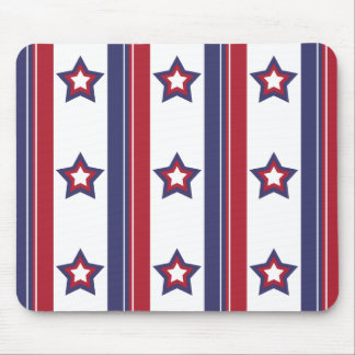 Red, White and Blue Mouse Pad