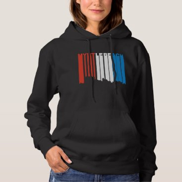 Beach Themed Red White And Blue Myrtle Beach South Carolina Sky Hoodie