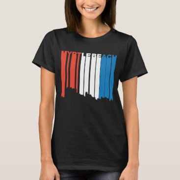 Beach Themed Red White And Blue Myrtle Beach South Carolina Sky T-Shirt