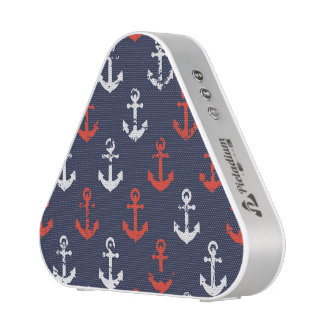Red White And Blue Navy Pattern Speaker