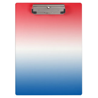 """""""Red White And Blue Ombre"""" Clipboard"""