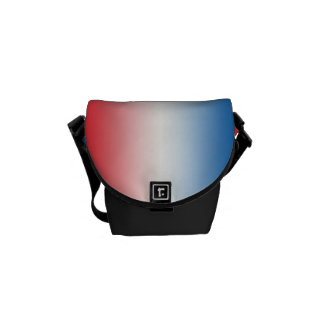 """""""Red White And Blue Ombre"""" Courier Bag"""