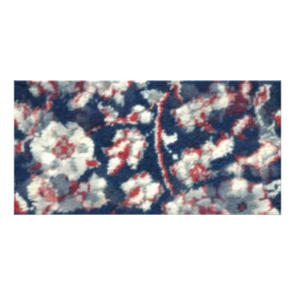 red white and blue oriental cotten carpet card