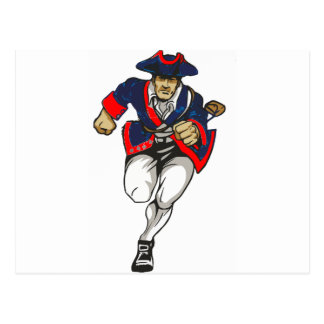 Red White and Blue Patriot Running Postcard