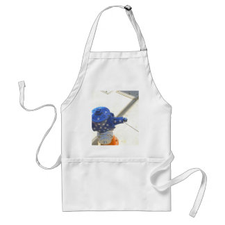 Red White and Blue Patriotic Fire Hydrant  America Adult Apron