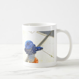Red White and Blue Patriotic Fire Hydrant  America Coffee Mug