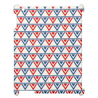 Red, White and Blue Patriotic Geometric Abstract Case For The iPad