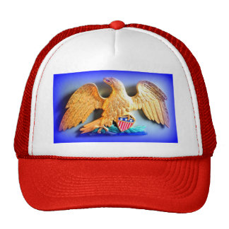 red white and blue patriotic gold eagle hat