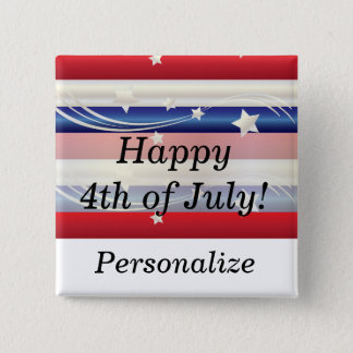 Red, White and Blue Patriotic Pinback Button