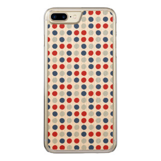 Red, White and Blue Patriotic Polka Dots Carved iPhone 7 Plus Case