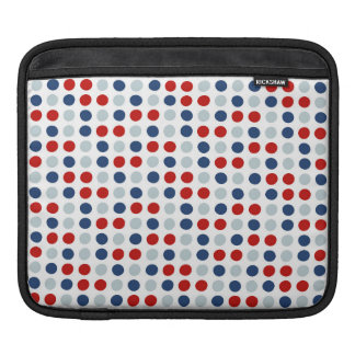 Red, White and Blue Patriotic Polka Dots Sleeve For iPads