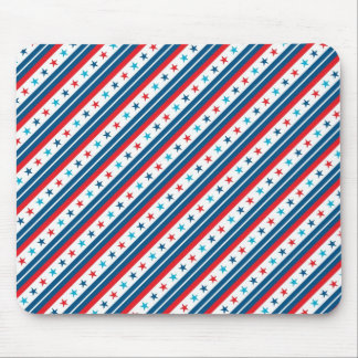 Red White and Blue Patriotic Star Mouse Pad