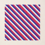 """Red White and Blue Patriotic Stripes Pattern Scarf<br><div class=""""desc"""">This all American design features diagonal stripes in red white and blue just in time for the Fourth of July celebrations in the USA.</div>"""