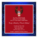 Red, White and Blue Patriotic Wedding Card