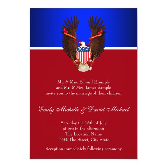 Red, White and Blue Patriotic Wedding Invitations | Zazzle.comRed And White Wedding Invitations
