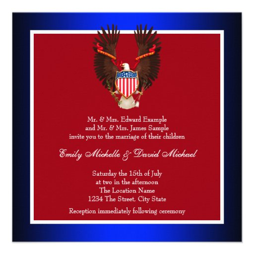 Patriotic Wedding Invitations is one of our best ideas you might choose for invitation design