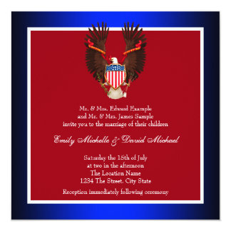 patriotic wedding invitations & announcements | zazzle, Wedding invitations