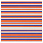 [ Thumbnail: Red, White, and Blue Pattern Fabric ]
