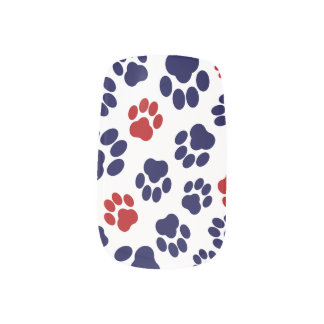 Red, White, and Blue Paw Print Nail Art Minx® Nail Wraps