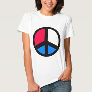 Red , White and Blue Peace Tee Shirt
