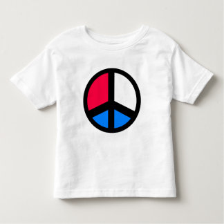 Red , White and Blue Peace Toddler T-shirt