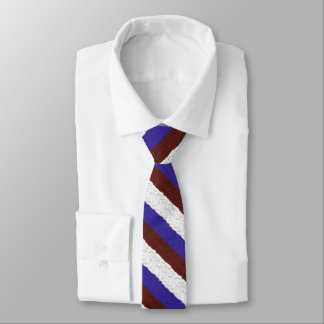 Red White and Blue Pebbles Necktie