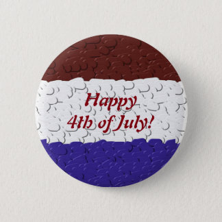 Red White and Blue Pebbles Pinback Button