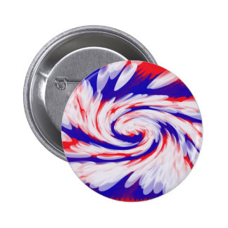 red white and blue pinback button