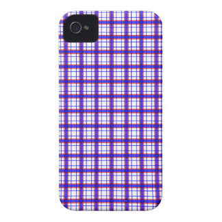 Red, White, and Blue Plaid iPhone 4 Case-Mate Cases