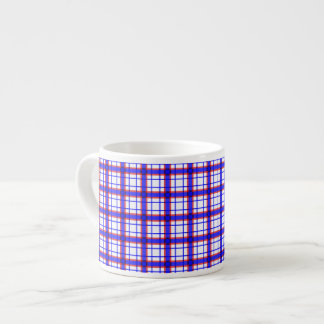 Red, White, and Blue Plaid Espresso Cup