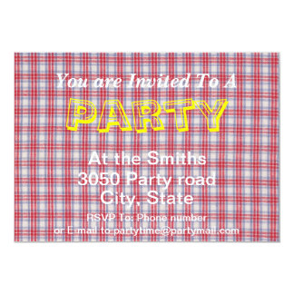 Red White and Blue Plaid Fabric Design Card