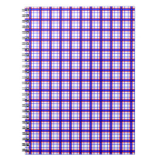 Red, White, and Blue Plaid Spiral Note Books