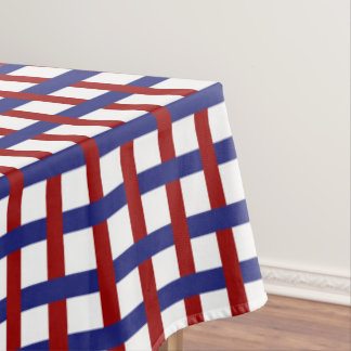 Red White And Blue Plaid Tablecloth