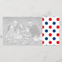 Red White and Blue Polka Dots