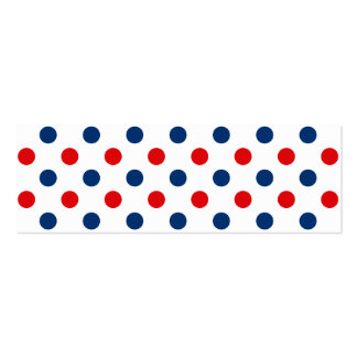 Red White and Blue Polka Dots Double-Sided Mini Business Cards (Pack Of 20)