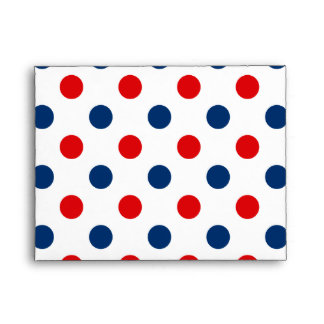 Red White and Blue Polka Dots Envelope