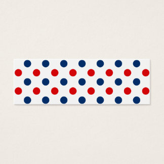 Red White and Blue Polka Dots Mini Business Card