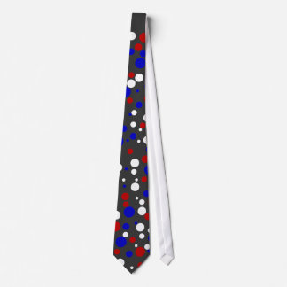 Red White and Blue Polka Dots Tie--good for July 4 Tie