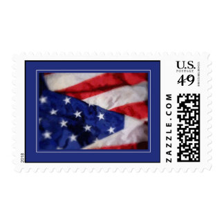 Red, White And Blue Stamp