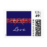 Red White and Blue Postage Stamp
