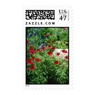 Red, White, and Blue Postage Stamp