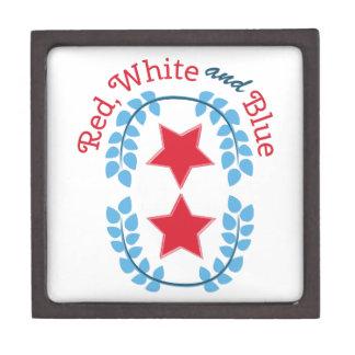 Red White And Blue Premium Keepsake Box